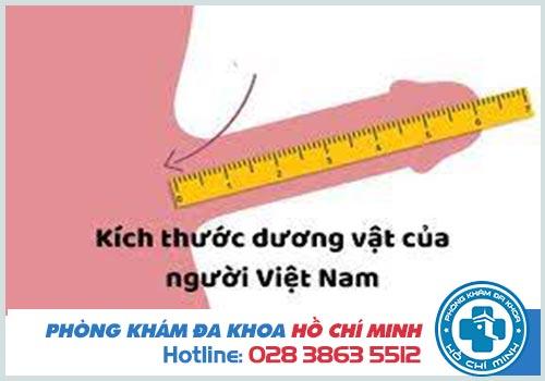 Dương vật dài bao nhiêu là chuẩn ở người Việt Nam