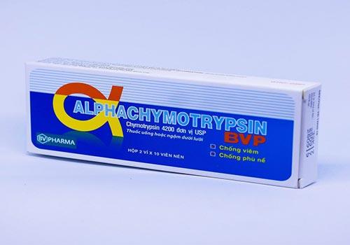 Thuốc Alphachymotrypsin: Công dụng, Giá bao nhiêu, Cách sử dụng
