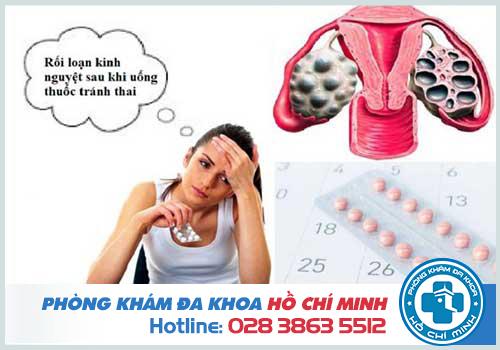 Uống thuốc tránh thai bị rối loạn kinh nguyệt phải làm sao